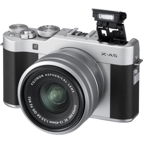 Fujifilm X-A5 Digital Camera with XC 15-45mm Lens - Silver