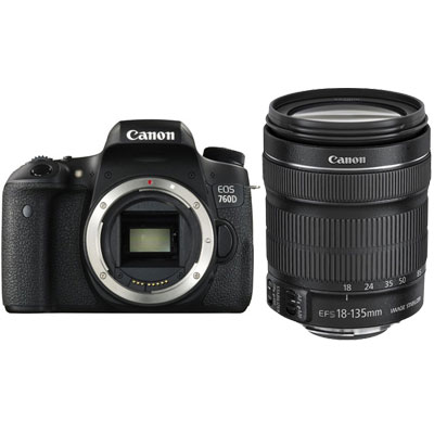 Canon EOS 760D Digital SLR with Canon EF-S 18-135mm f3.5-5.6 IS STM Lens