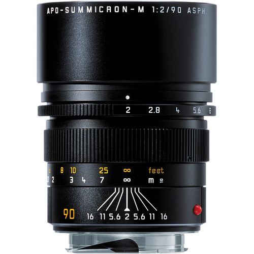 Leica Telephoto 90mm f/2.0 APO Summicron M Aspherical Manual Focus Lens (6-Bit, Updated for Digital) - Black