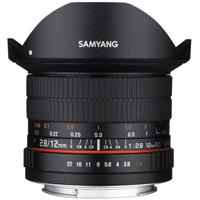 Samyang 12mm f2.8 ED AS NCS Fisheye Lens - Canon Fit