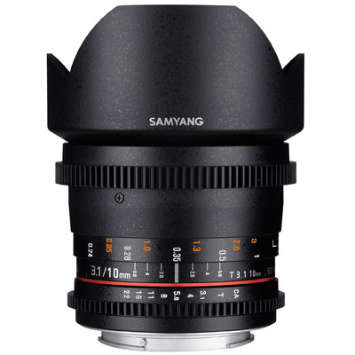 Samyang 10mm T3.1 ED AS NCS CS II Video Lens - Micro Four Thirds Fit