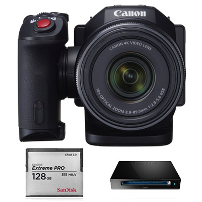 Canon XC10 4K Compact Camcorder with SanDisk 128GB CFast Card and Reader (PAL Version)