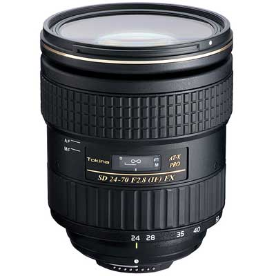 Tokina 24-70mm f 2.8 AT-X PRO FX Lens - Canon Fit