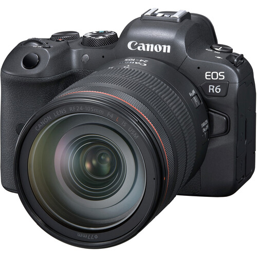 Canon EOSR6 Mirrorless Digital Camera with 24-105mm f/4L Lens