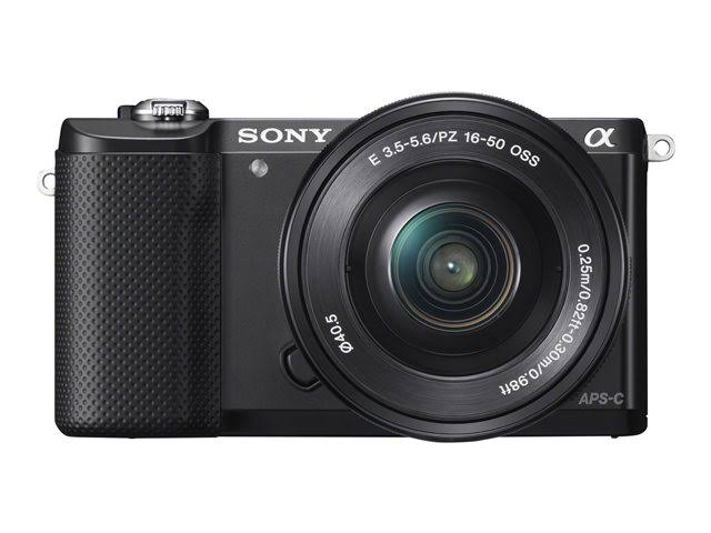 Sony Alpha A5000 Digital Camera with 16-50mm Power Zoom Lens - Black