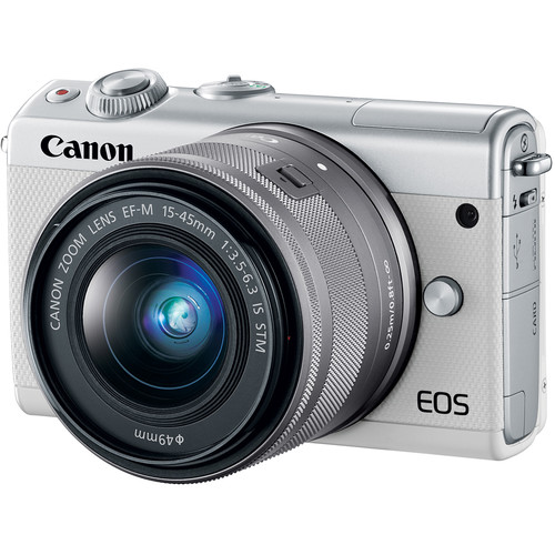 Canon EOS M100 Digital Camera + 15-45mm Lens Kit White