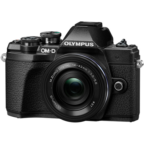 Olympus OM-D E-M10 Mark III Digital Camera with 14-42mm EZ Lens - Black